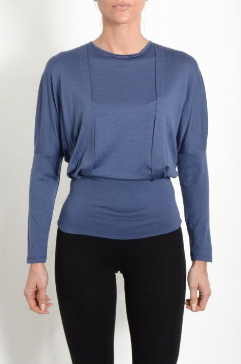 Blouse in jersey, blue color