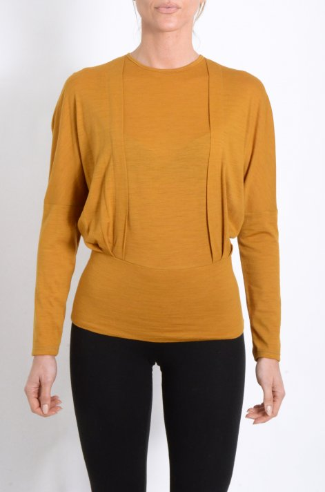 Blusa in jersey color ocra